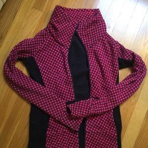 Lululemon Jacket - black with pink pattern